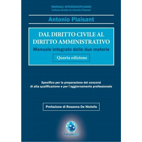 PLAISANT - Dal diritto civile al diritto amministrativo (IV edizione 2020)